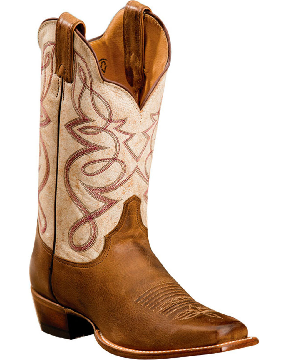 Justin Women's Distressed Leather Cowgirl Boots - Square Toe, , hi-res