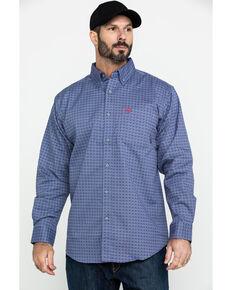 Ariat Men's Maverick FR Geo Print Long Sleeve Work Shirt - Tall , Green, hi-res