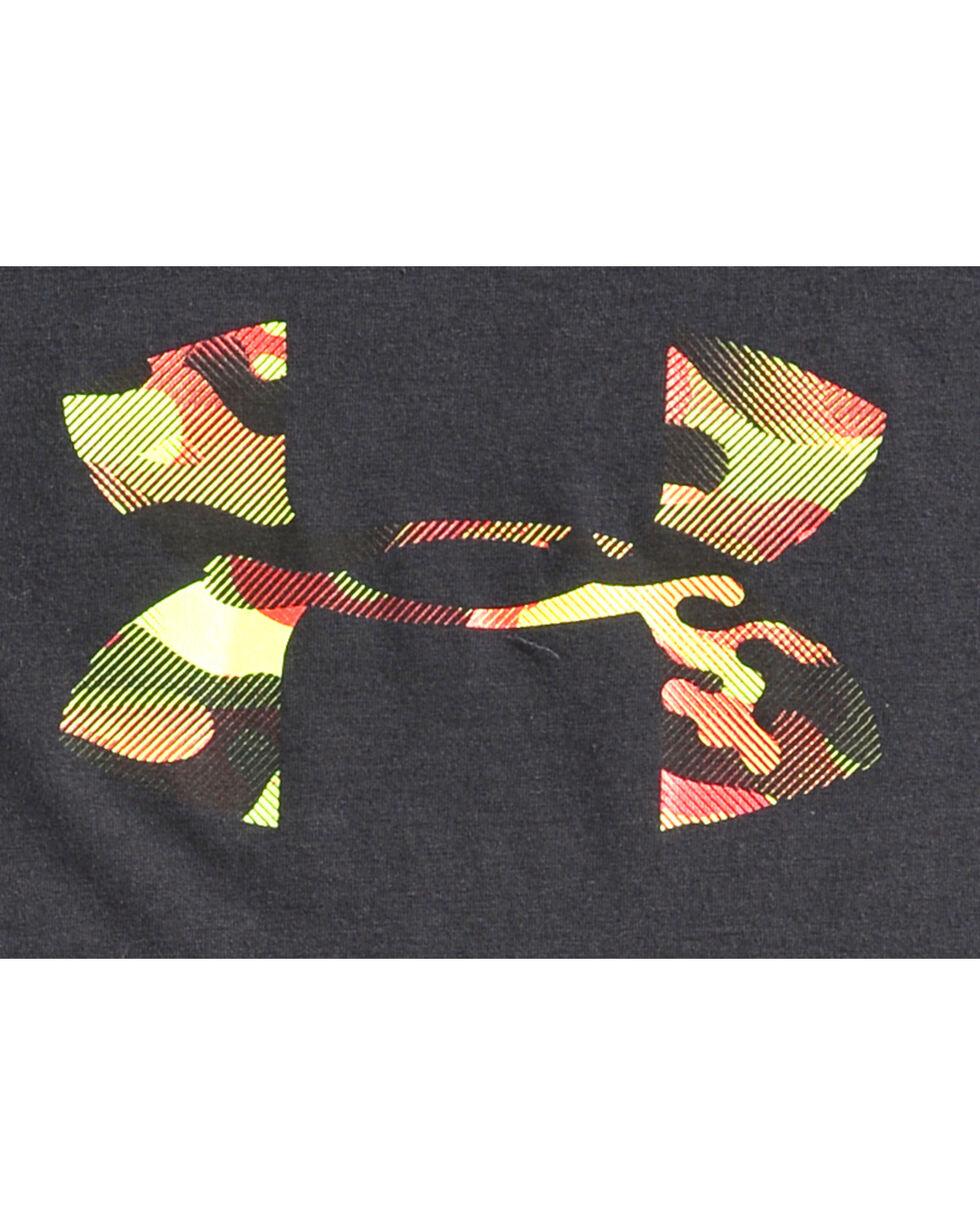 Under Armour Boys' Black ZagZig Camo Logo Tee , Black, hi-res