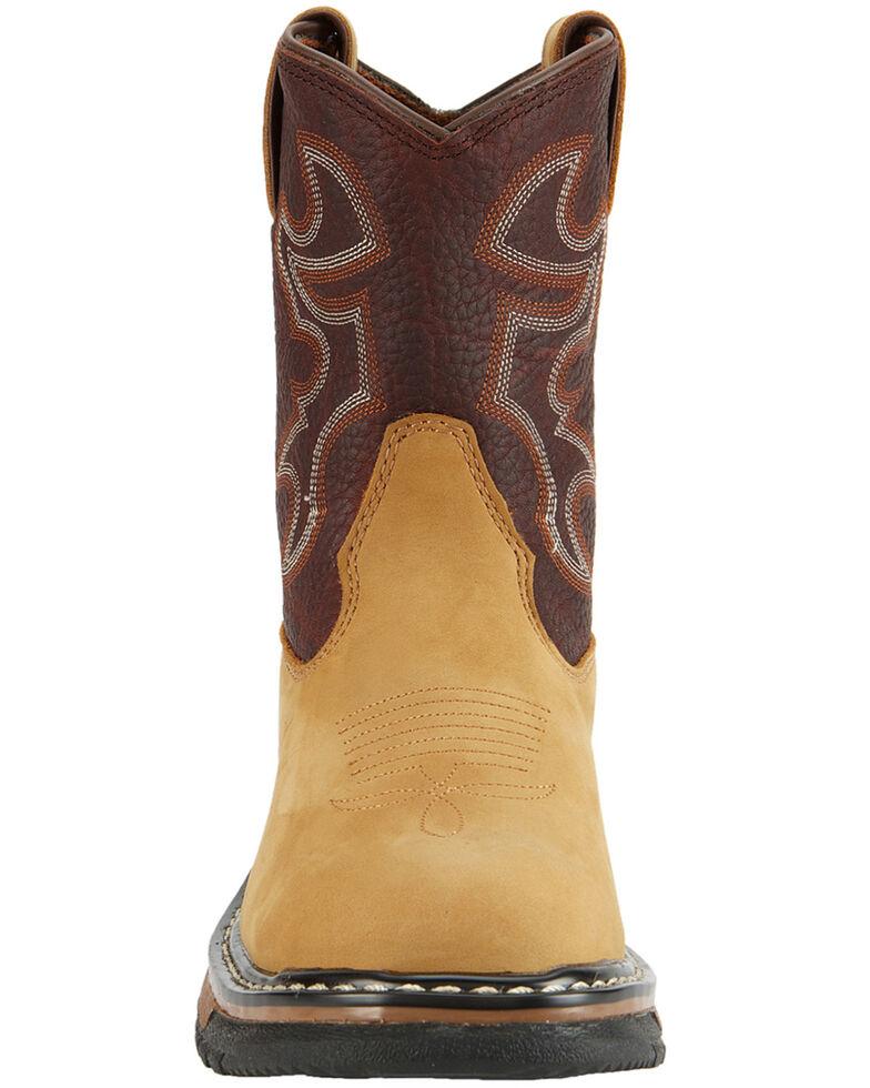 Rocky Kids' Branson Roper Western Boots - Round Toe, Brown, hi-res