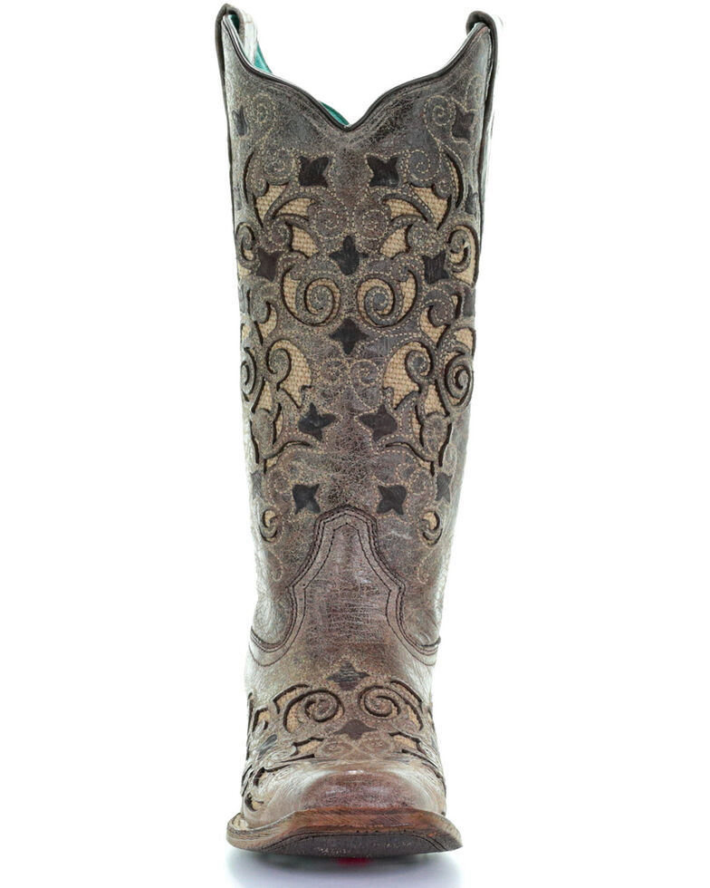 d60944e710f Corral Women's Jute Inlay Cowgirl Boots - Square Toe