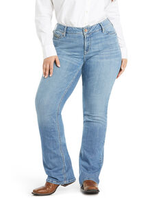 Ariat Women's Vivian Bootcut Jeans - Plus, Blue, hi-res