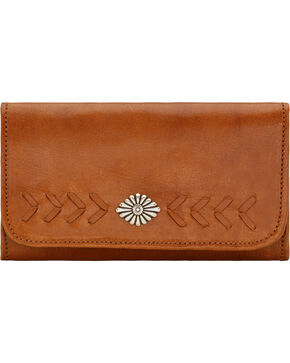 American West Mohave Canyon Ladies' Golden Tan Tri-Fold Wallet, Golden Tan, hi-res