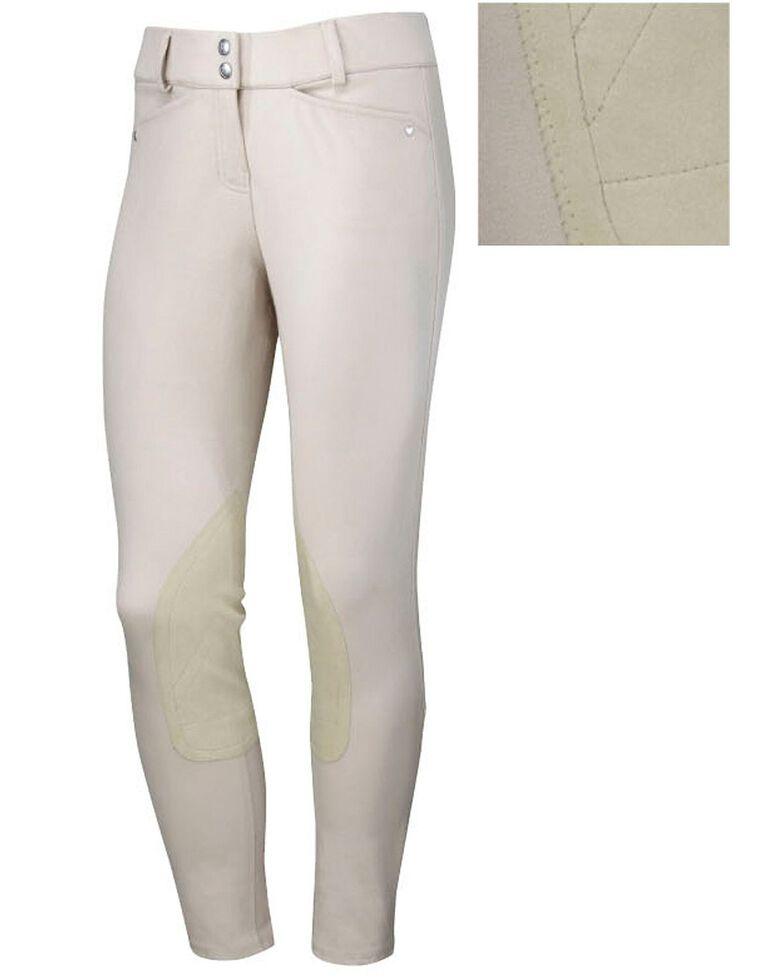 Ariat Women's Heritage Low Rise Riding Breeches, Beige, hi-res