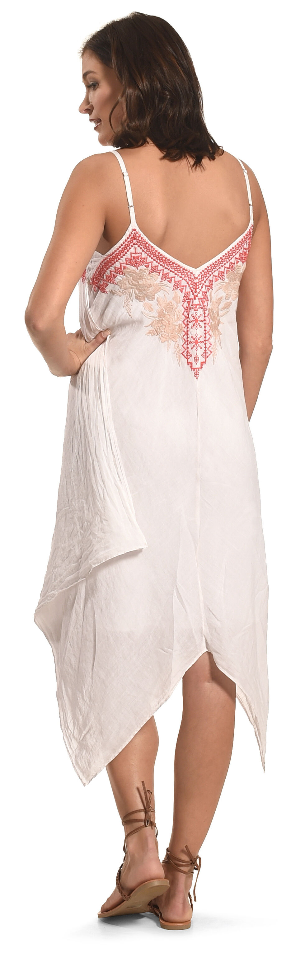 Johnny Was Women's White Kai Hankerchief Dress, White, hi-res