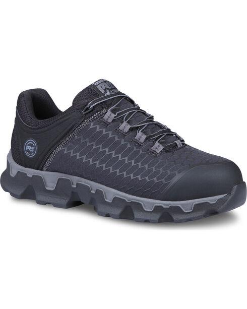 Timberland Pro Men's Powertrain Sport Work Shoes - Alloy Toe, Black, hi-res