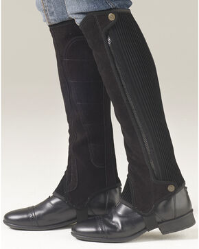 Ovation Women's Precision Fit Suede Half Chaps, Black, hi-res