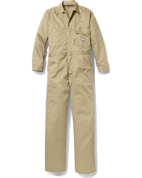 Rasco Men's Khaki FR Coveralls - Tall , Beige/khaki, hi-res