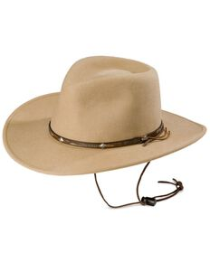 Stetson Mountain View Crushable Wool Felt Hat, Sand, hi-res