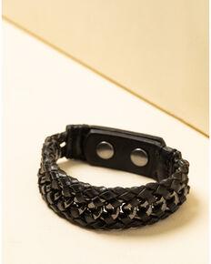 Moonshine Spirit Men's Metal Inlay Cuff Bracelet, Black, hi-res