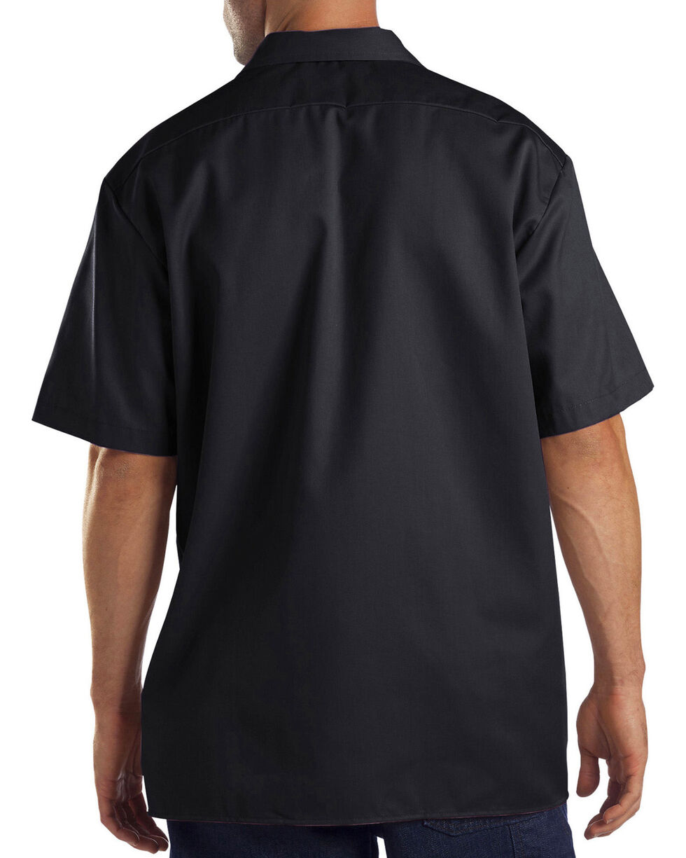 Dickies Men's Black Flex Twill Work Shirt , Black, hi-res