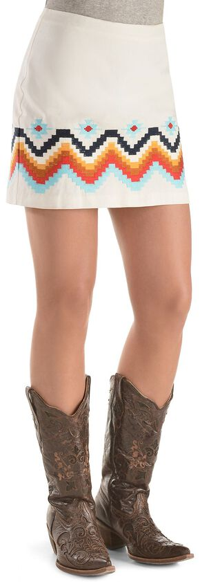 Ariat Chahta Skirt, White, hi-res