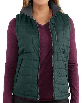 Carhartt Women's Pine Amoret Quilted Vest, Pine, hi-res