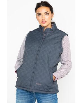 Berne Women's Brown Nylon Quilted Trek Work Vest  , Brown, hi-res