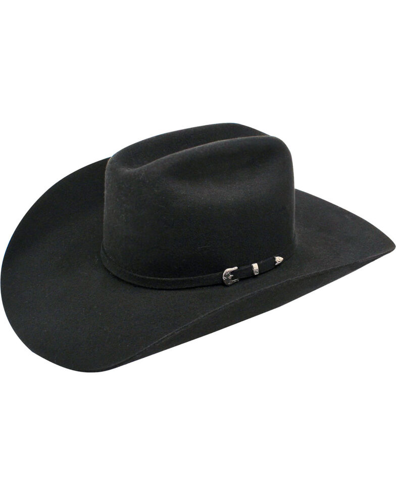 Ariat Maverick 6X Rabbit Fur Felt Cowboy Hat, Black, hi-res