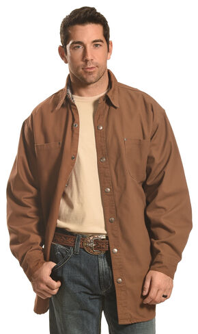 Forge Workwear Men's Brown Lined Shirt Jacket , Brown, hi-res