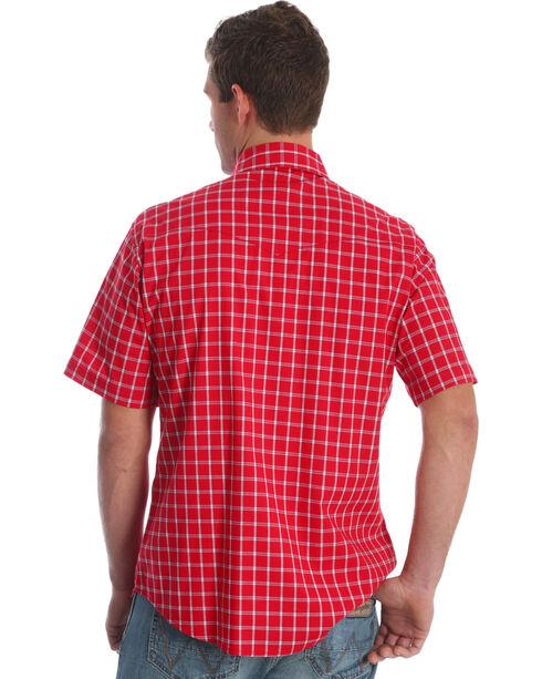 Wrangler Men's Wrinkle Resist Red Plaid Short Sleeve Shirt - Tall, , hi-res