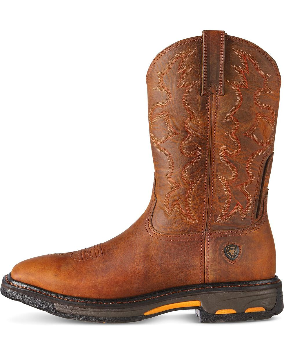 Ariat Workhog Pull-On Work Boots - Steel Toe, Toast, hi-res