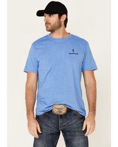 Browning Men's Blue USA Logo Short Sleeve T-Shirt , Blue, hi-res