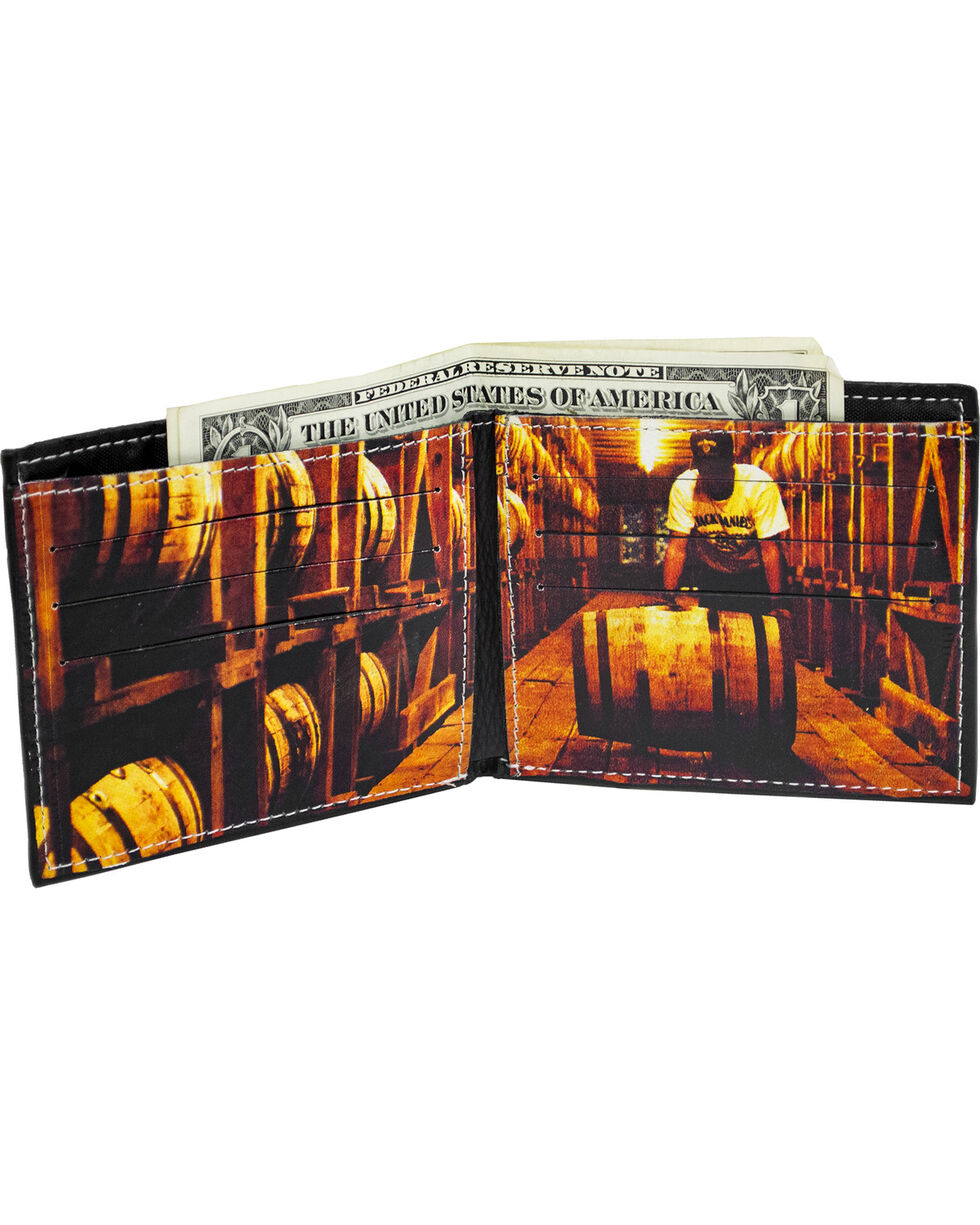 Jack Daniel's Men's Black Whisky Billfold Wallet , Black, hi-res