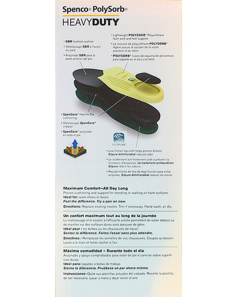 Spenco Polysorb Heavy Duty Occupational Insoles, Green, hi-res