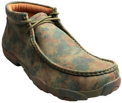 Twisted X  Men's Camo Leather Driving Mocs, Camouflage, hi-res