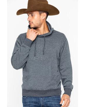 Ariat Men's Branded Hoodie Sweatshirt , Charcoal, hi-res