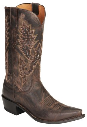 Lucchese Handcrafted 1883 Mad Dog Goat Cowboy Boots - Snip Toe, Chocolate, hi-res