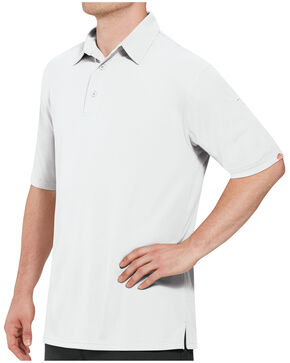 Red Kap Men's Performance Knit Flex Series Polo Shirt , White, hi-res