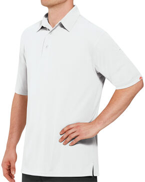 Red Kap Men's Performance Knit Flex Series Polo Shirt - Big & Tall, White, hi-res
