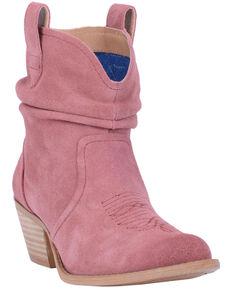 Dingo Women's Blush Jackpot Western Booties - Round Toe, Blush, hi-res