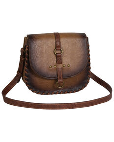 Justin Women's Burnished Amber Saddle Bag, Brown, hi-res