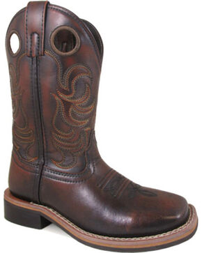 Smoky Mountain Youth Boy's Chocolate Landry Boots - Square Toe , Chocolate, hi-res