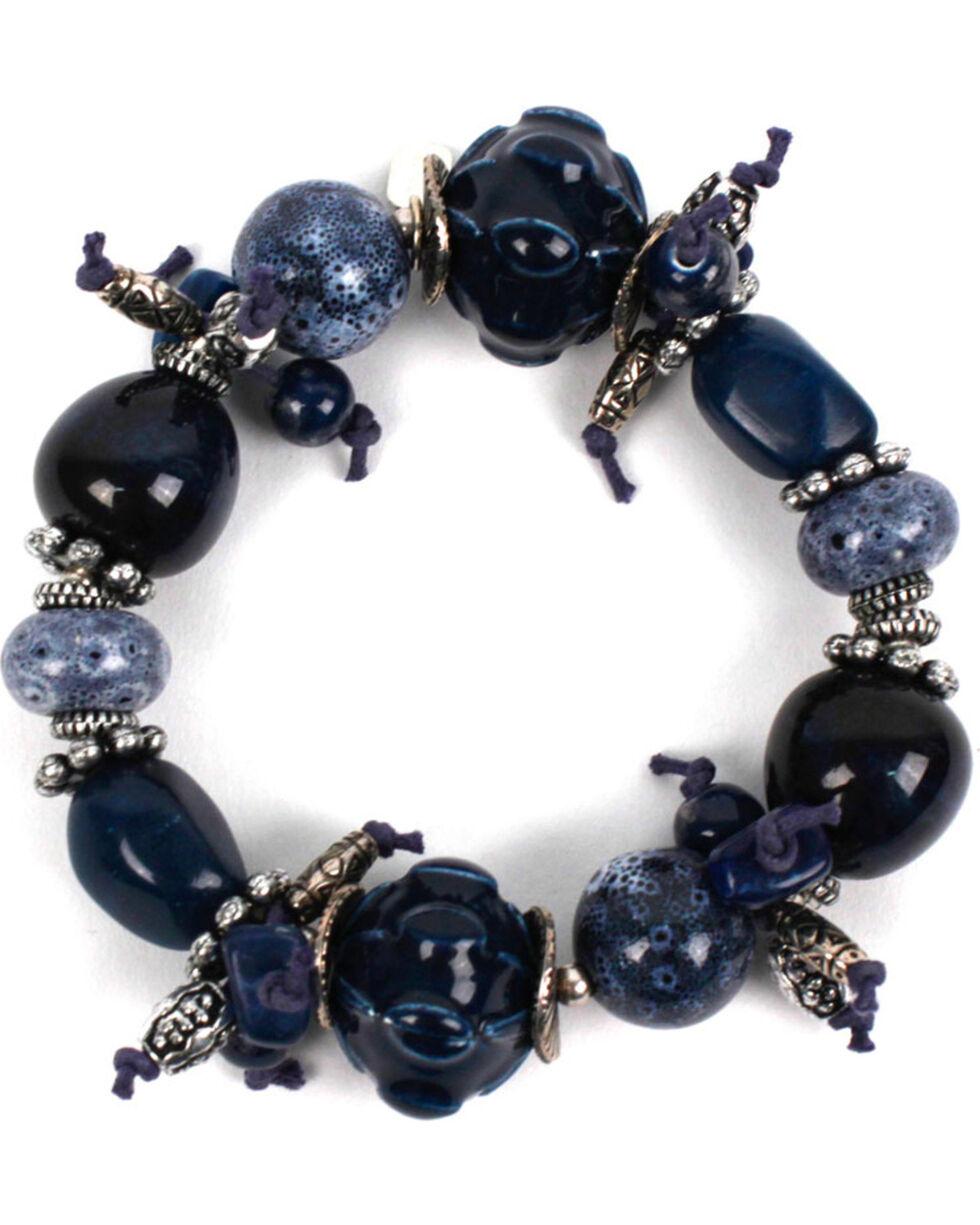 Treska Women's Chunky Beaded Bracelet, Blue, hi-res