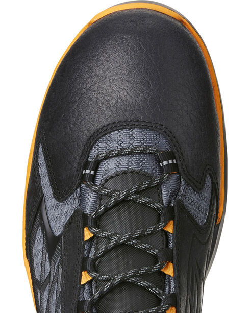 """Ariat Men's Rebar Flex 6"""" Black Work Boots - Composite Toe, Black, hi-res"""