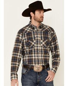 Ariat Men's Hoboken Retro Large Plaid Long Sleeve Snap Western Shirt , Black, hi-res