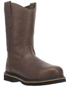 Laredo Men's Rake Western Work Boots - Steel Toe, Brown, hi-res