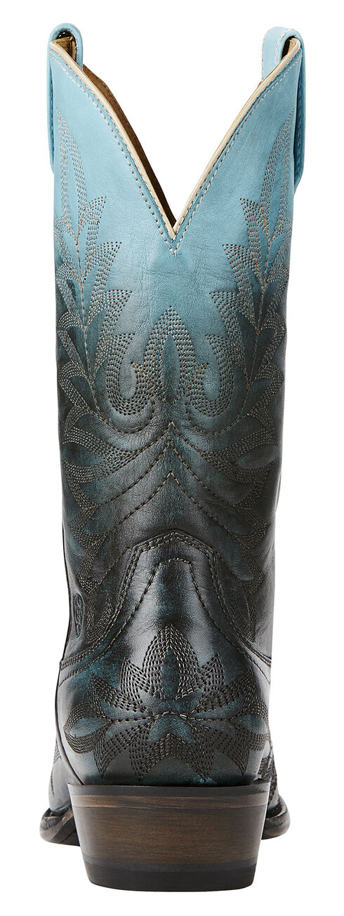 Ariat Blue Ombre Cowgirl Boots - Snip Toe, Blue, hi-res