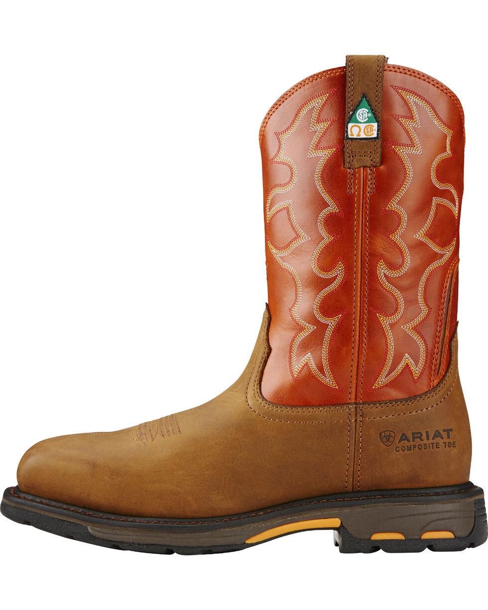 Ariat Men's WorkHog CSA Work Boots - Composite Toe, Earth, hi-res