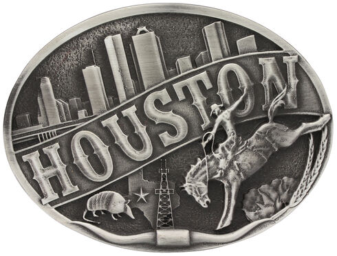 Montana Silversmiths Houston Attitude Belt Buckle, Silver, hi-res
