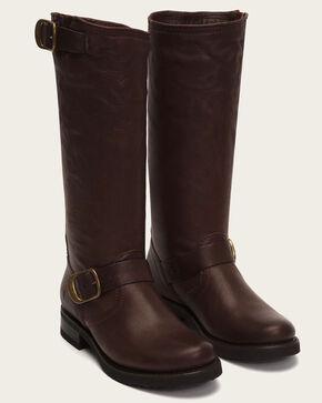 Frye Women's Dark Brown Veronica Slouch 2 Boots - Round Toe , Dark Brown, hi-res