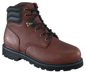 """Knapp Men's Backhoe 6"""" Work Boots - Steel Toe, Brown, hi-res"""