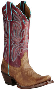 Ariat Women's Taupe Bristol Boots - Square Toe, Taupe, hi-res