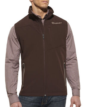 Ariat Vernon Softshell Vest, Coffee, hi-res