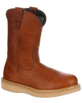 Georgia Boot Western Mens Ratchet Belt Leather Logo Brown 2020BE7