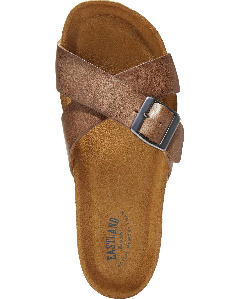 Eastland Women's Kelley Crisscross Slide Sandal , Natural, hi-res