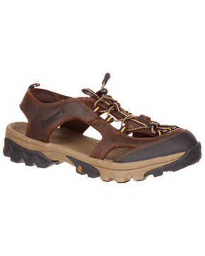 Rocky Men's Endeavor Point Hiking Sandals, Brown, hi-res