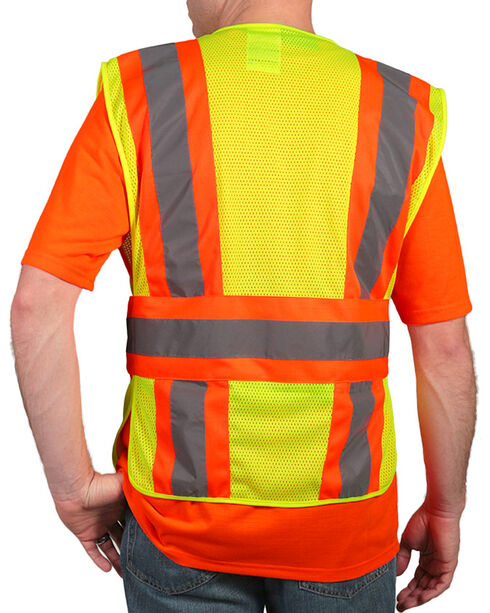 American Worker Men's Yellow 2-Tone Vest – Big & Tall , Yellow, hi-res