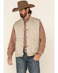Cody James Men's Tan Quilted Lightweight Puffer Vest, Tan, hi-res