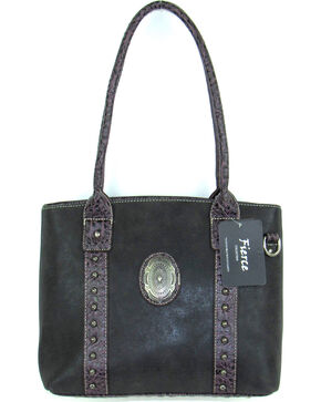 Savana Women's Fierce Concho Conceal Carry Handbag , Black, hi-res